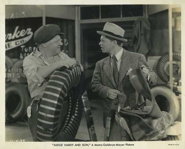 Joe Yule and Mickey Rooney