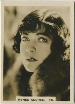 Renee Adoree 1932 Hill Cinema Celebrities Tobacco Card