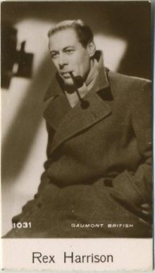 Rex Harrison 1940 De Beukelaer Trading Card