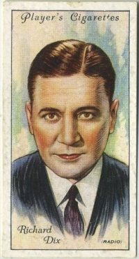 Richard Dix 1934 Player Tobacco Card, Series 2