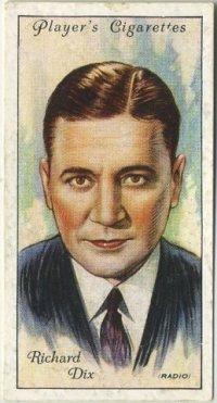 Richard Dix 1934 Player Tobacco Card, Series 2
