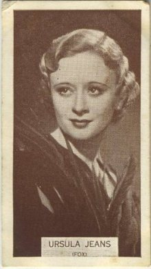 Ursula Jeans 1934 Wills Famous Film Stars Tobacco Card