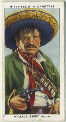 Wallace Beery 1939 Mitchells Tobacco Card