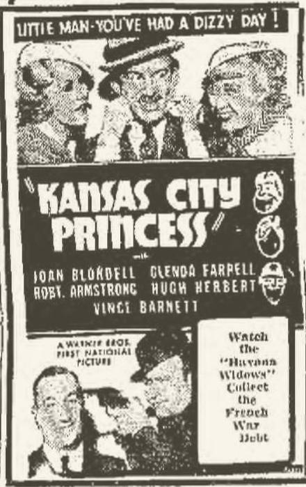Kansas City Princess 1934 newspaper ad
