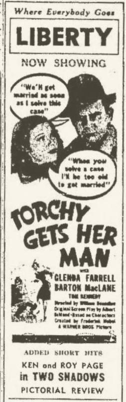 Torchy Gets Her Man 1938 newspaper ad
