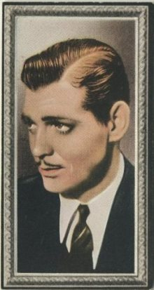 Clark Gable 1936 Godfrey Phillips Tobacco Card