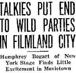 1930 Bogart headline