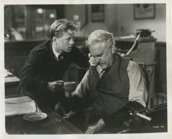 Mickey Rooney and Frank Morgan