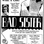 1931 newspaper ad for The Bad Sister