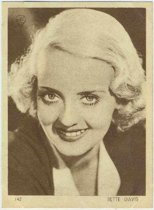 Bette Davis 1930s Aguila Trading Card