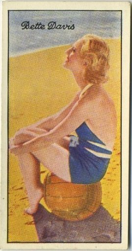 Bette Davis 1935 Carreras Famous Film Stars Tobacco Card