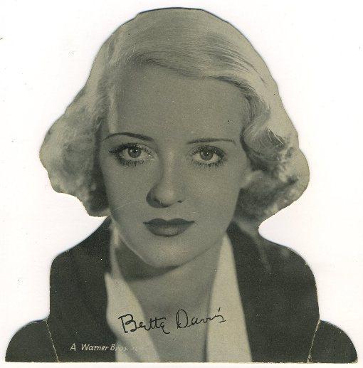 Bette Davis 1930s Quaker Standee