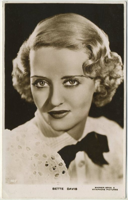 Bette Davis 1930s Real Photo Postcard