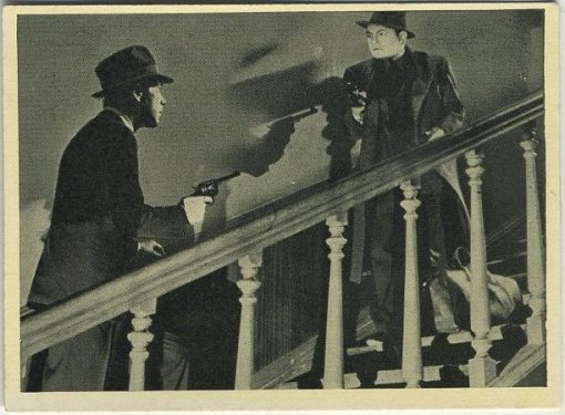 Humphrey Bogart and Edward G Robinson Tobacco Card