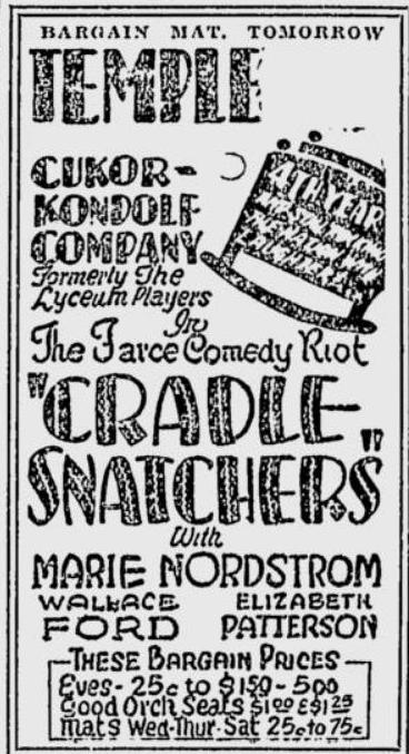 Rochester Cradle Snatchers ad