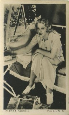 Glenda Farrell 1930s Polo L Tobacco Card