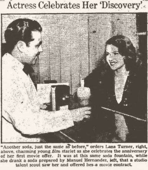 Lana Turner 1937 newspaper