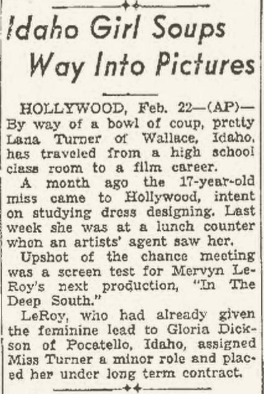 1937 Lana Turner article