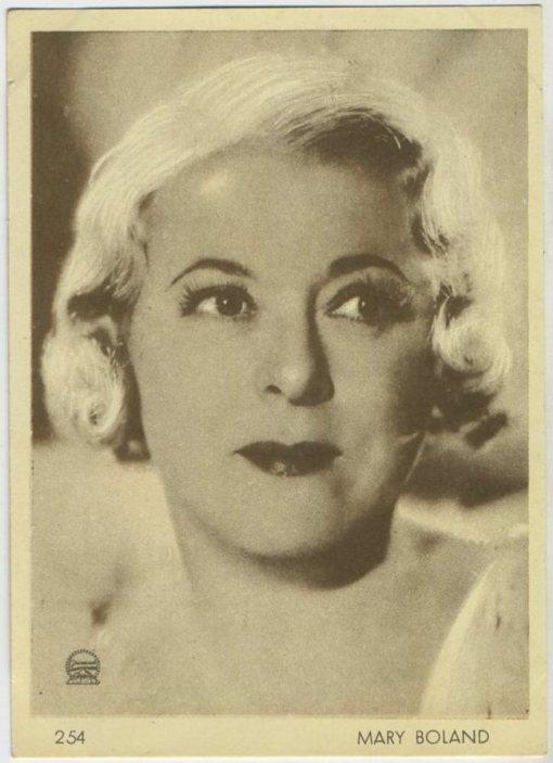 Mary Boland 1930s Aguila Trading Card