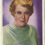 Mary Boland 1936 Nestle Trading Card