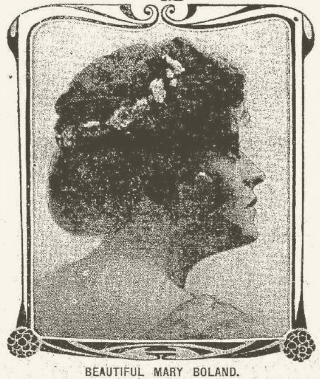 Mary Boland, Frederick Maryland News, September 28 1907, page 1
