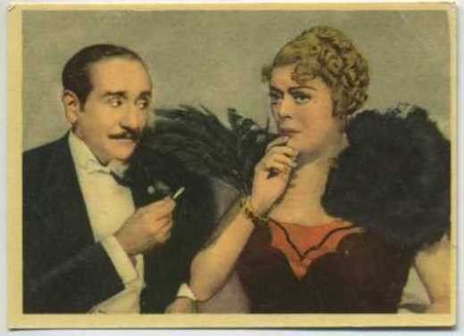 Adolphe Menjou and Mary Boland Tobacco Card