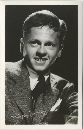 Mickey Rooney 1940s era EKC Real Photo Postcard