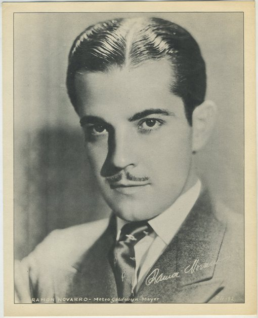 1930s Ramon Novarro mass produced paper premium photo