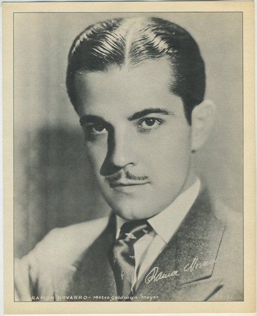 1930s Ramon Novarro mass produced paper premium photo