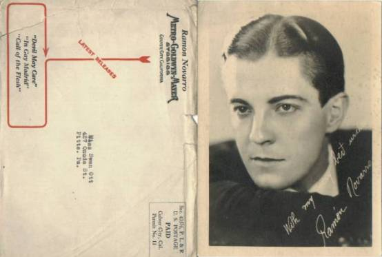 Ramon Novarro 5x7 fan photo with mailer