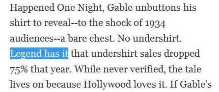 undershirt sales drop 75 percent
