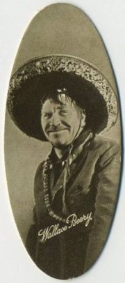 Wallace Beery 1934 Carreras Film Stars Tobacco Card