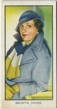 Benita Hume 1935 BAT Cinema Celebrities Tobacco Card