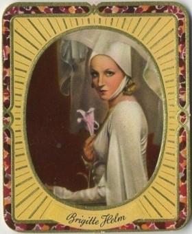 Brigitte Helm 1930s Garbaty Tobacco Card from Germany