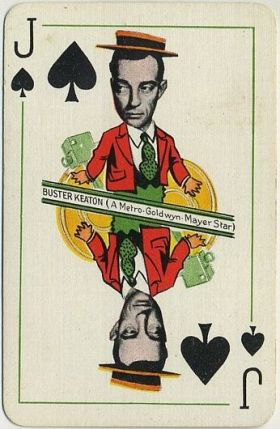 Buster Keaton 1933 Thomas de la Rue Playing Card