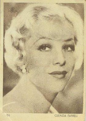 Glenda Farrell 1930s Aguila Trading Card