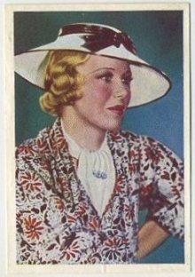 Glenda Farrell 1936 Nestle Trading Card
