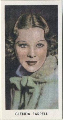 Glenda Farrell 1939 Abdulla Tobacco Card