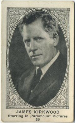 James Kirkwood early 1920s American Caramel Trading Card
