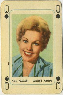Kim Novak 1950s Maple Leaf Playing Card
