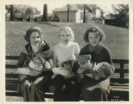 Mrs Alexander Leftwich, Glenda Farrell and Patricia Ellis