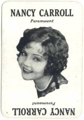 Nancy Carroll 1929 Movie Land Keeno Game Card