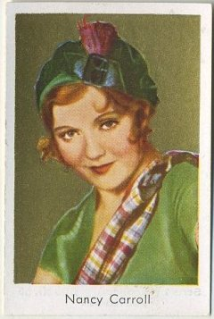Nancy Carroll 1930s Bulgaria brand German Tobacco Card