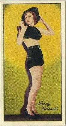 Nancy Carroll 1935 Carreras Tobacco Card