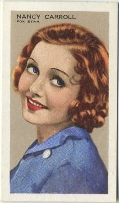 Nancy Carroll 1935 Gallaher Tobacco Card