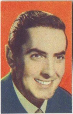 Tyrone Power 1951 Artisti del Cinema Trading Card