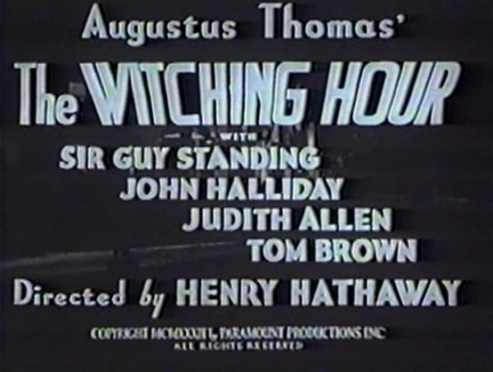 The Witching Hour 1934