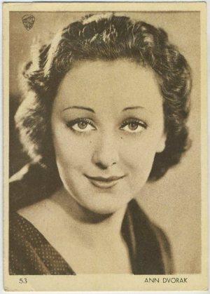 Ann Dvorak 1930s Aguila Trading Card