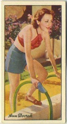 Ann Dvorak 1935 Carreras Tobacco Card