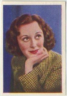 Ann Dvorak 1937 Nestle Trading Card